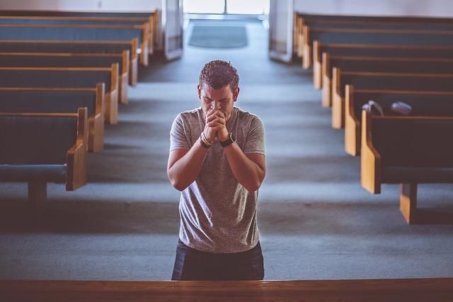 Modlící se člověk