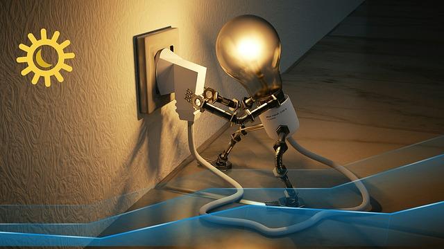 Lampa v zásuvce