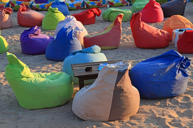 Plážové sedací vaky